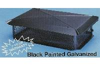 BigTop Chimney Cover, Black Galvanized, 17 x 53