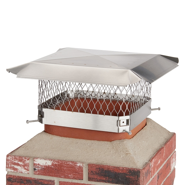 Draft King 13 in. x 13 in. Bolt-On Single Flue Stainless Steel Chimney Cap