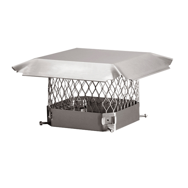 Draft King Chimney Cover, Stainless, 13 x 13