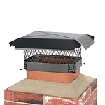 Draft King 13 in. x 9 in. Bolt-On Single Flue Chimney Cap in Black Galvanized Steel