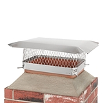 Draft King 13 in. x 18 in. Bolt-On Single Flue Stainless Steel Chimney Cap