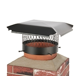 Draft King 10 in. Round Bolt-On Single Flue Chimney Cap in Black Galvanized Steel