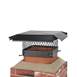 Draft King 11 in. x 11 in. Bolt-On Single Flue Chimney Cap in Black Galvanized Steel