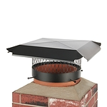 Draft King 12 in. Round Bolt-On Single Flue Chimney Cap in Black Galvanized Steel