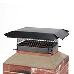 Draft King 16 in. x 12 in. Bolt-On Single Flue Chimney Cap in Black Galvanized Steel