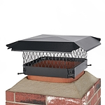 Draft King 13 in. x 13 in. Bolt-On Single Flue Chimney Cap in Black Galvanized Steel