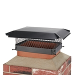Draft King 18 in. x 13 in. Bolt-On Single Flue Chimney Cap in Black Galvanized Steel