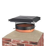 Draft King 14 in. Round Bolt-On Single Flue Chimney Cap in Black Galvanized Steel
