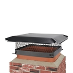 Draft King 18 in. x 18 in. Bolt-On Single Flue Chimney Cap in Black Galvanized Steel