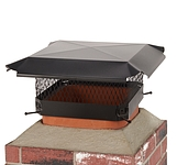 Draft King 13 in. x 13 in. California Oregon Bolt-On Single Flue Chimney Cap in Black Galvanized Steel