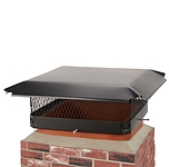 Draft King 18 in. x 18 in. California Oregon Bolt-On Single Flue Chimney Cap in Black Galvanized Steel