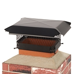 Draft King 13 in. x 9 in. California Oregon Bolt-On Single Flue Chimney Cap in Black Galvanized Steel
