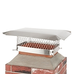 Draft King 12 in. x 16 in. Bolt-On Single Flue Stainless Steel Chimney Cap