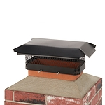 Draft King 17 in. x 8 in. California Oregon Bolt-On Single Flue Chimney Cap in Black Galvanized Steel