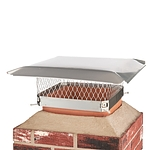 Draft King 15 in. x 15 in. Bolt-On Single Flue Stainless Steel Chimney Cap