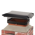 Draft King 17 in. x 13 in. California Oregon Bolt-On Single Flue Chimney Cap in Black Galvanized Steel