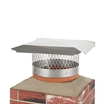 Draft King 14 in. Round Slip-In Welded Leg Single Flue Stainless Steel Chimney Cap