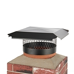 Draft King 14 in. Round Slip-In Welded Leg Single Flue Chimney Cap in Black Galvanized Steel
