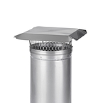HY-C 13 in. Round Clamp-On Single Flue Liner Chimney Cap in Stainless Steel