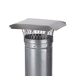 HY-C 7 in. Round Clamp-On Single Flue Liner Chimney Cap in Stainless Steel