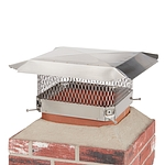Draft King 13 in. x 13 in. California Oregon Bolt-On Single Flue Chimney Cap in Stainless Steel