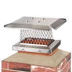 HY-C 9 in. x 13 in. Stackable Multi-Pack Single Flue Stainless Steel Chimney Cap, 4 Pack