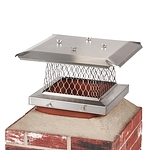 HY-C 13 in. x 13 in. Stackable Multi-Pack Single Flue Stainless Steel Chimney Cap, 4 Pack