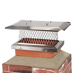 HY-C 9 in. x 18 in. Stackable Multi-Pack Single Flue Stainless Steel Chimney Cap, 4 Pack