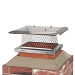 HY-C 13 in. x 18 in. Stackable Multi-Pack Single Flue Stainless Steel Chimney Cap, 4 Pack