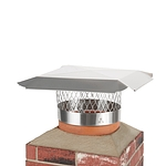Draft King 12 in. Round Slip-In Welded Leg Single Flue Stainless Steel Chimney Cap