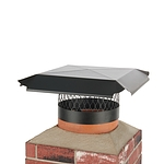 Draft King 12 in. Round Slip-In Welded Leg Single Flue Chimney Cap in Black Galvanized Steel