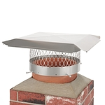 Draft King 12 in. Round Bolt-On Single Flue Stainless Steel Chimney Cap
