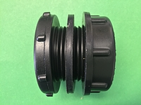 "Fitting, 1/2"" Bulk Head Fitting-Poly"