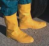 "Large Yellow 12"" Latex Hazmat Overboots With Ribbed And Textured Outsole"