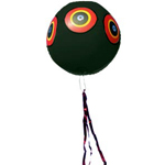 Scare Eye Balloon Black