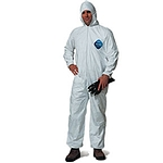 Tyvek Hooded Coveralls With Elastic Wrists & Ankles - Size Large