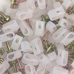 "Dynaclamp 1/4"" Clear (bag of 100)"