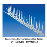 Masterline Plastic Bird Spikes 50 ft L x 5 in W Any Color