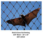 3/8 IN MESH - BAT NETTING HEAVY DUTY BLACK 10' X 10'