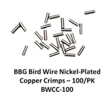 Bird Wire Nickel Plated Copper Crimps