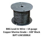 Bj Lead Wire Blk 100'/rl