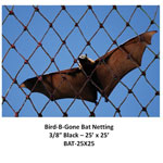 3/8 IN MESH - BAT NET HEAVY DUTY BLACK 25' X 25'