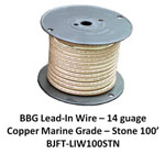 Bj Lead Wire Tan 100'/rl