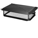 BigTop Chimney Cover, Black Galvanized, 17 x 29
