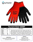 Tsunami Grip Black Mach Finish Nitrile Gloves - X Large