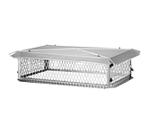 BigTop Chimney Cover, Stainless, 17 x 64