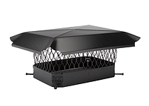 Draft King Chimney Cover, Black Galvanized, 9 x 18