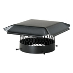 Draft King Chimney Cover, Black Galvanized, Round 10