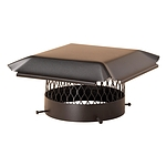 Draft King Chimney Cover, Galvanized Black, Round, 14