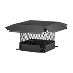 Draft King Chimney Cover, Black Galvanized, 15 x 15